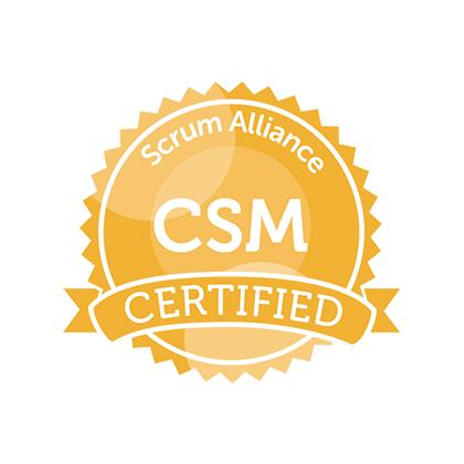 Scrum Alliance CSM Certified logo