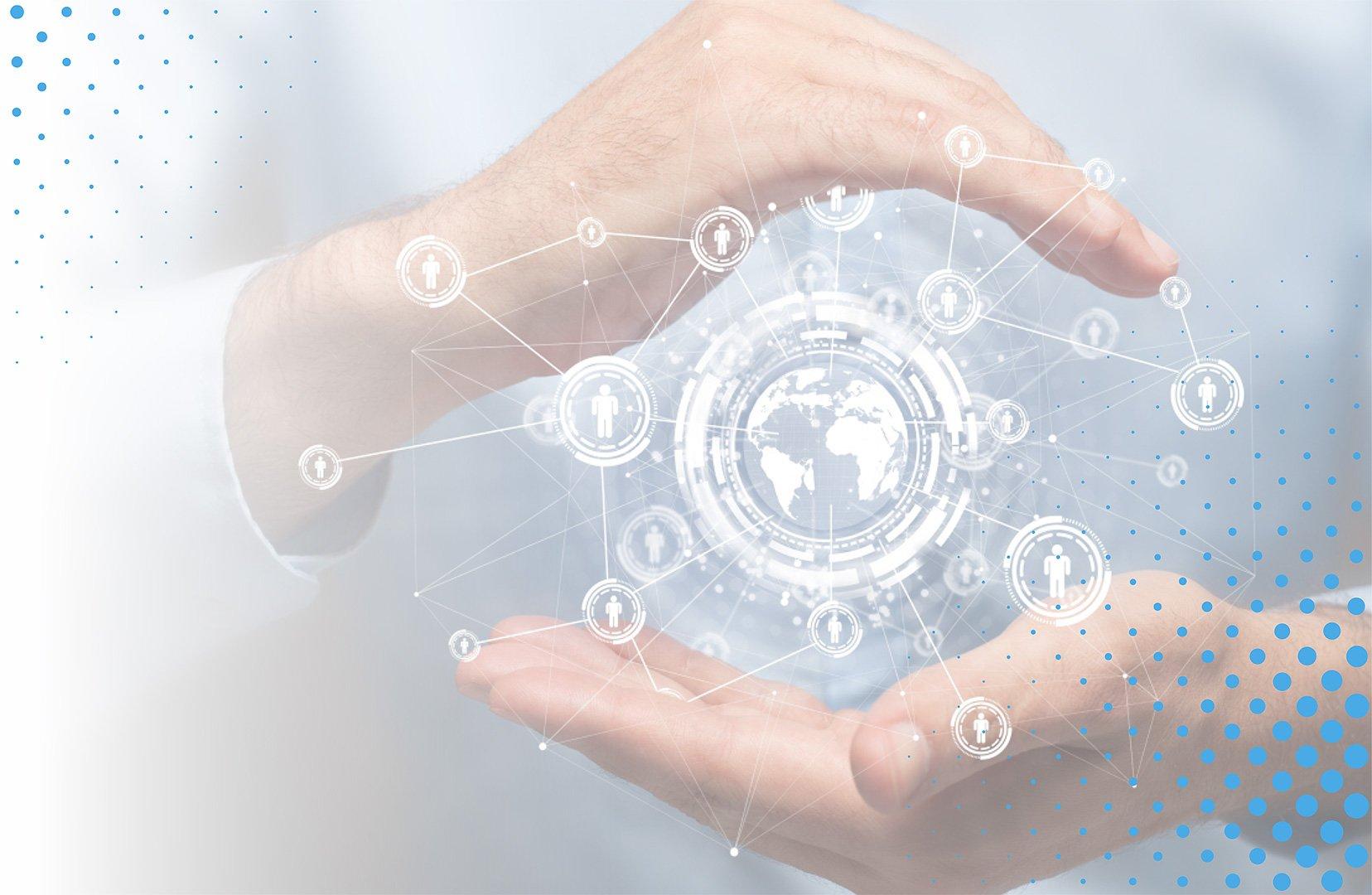 Technology Communication Background Image